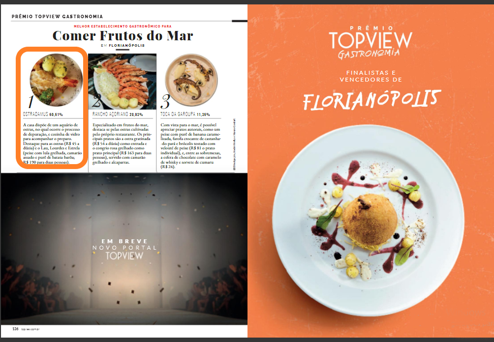 Edição Especial Prêmio TOPVIEW de gastronomia 2019